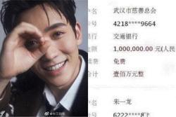 Nam diễn viên gốc Vũ Hán Chu Nhất Long quyên góp cho quê nhà trong tâm dịch virus corona