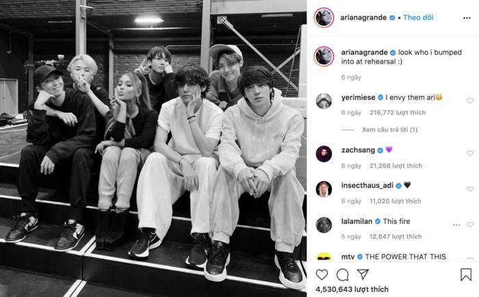 BTS tiết lộ lí do gặp riêng Ariana Grande tại buổi tổng duyệt-1