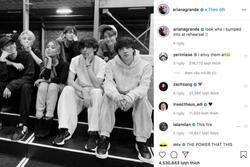 BTS tiết lộ lí do gặp riêng Ariana Grande tại buổi tổng duyệt