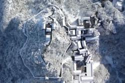 Núi Võ Đang đẹp tựa chốn thần tiên mùa đông tuyết trắng