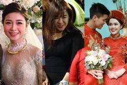 Bạn gái Văn Lâm, vợ Duy Mạnh, Văn Đức trong ảnh được tag và tự đăng