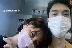 Đeo khẩu trang đi du lịch, Văn Mai Hương và bạn trai chuẩn 'một công đôi việc'