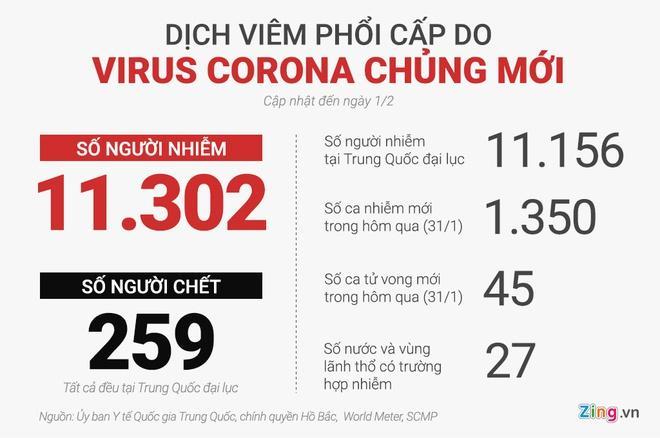 Số người nhiễm virus corona đã vượt 10.000, 259 ca tử vong-2
