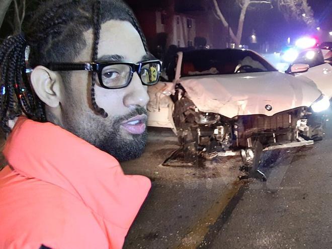 Rapper bị bắt khi gây tai nạn, đâm nát nhiều xe sang trên phố-1