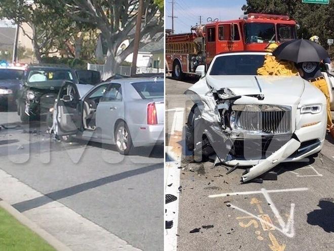 Rapper bị bắt khi gây tai nạn, đâm nát nhiều xe sang trên phố-3
