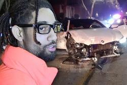 Rapper bị bắt khi gây tai nạn, đâm nát nhiều xe sang trên phố