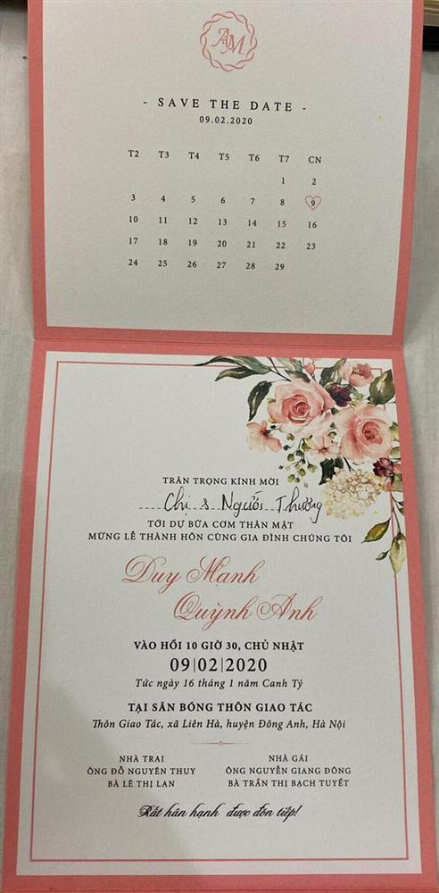 Dùng kỹ xảo mời cưới, Đỗ Duy Mạnh khiến hội FA khóc thầm vì một chi tiết nhỏ ghi trên thiệp-2