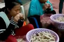 Dùng răng rút xương chân gà sống, bà chủ Thái Lan hài lòng với tình hình kinh doanh: 400 - 500kg chân gà đã được bán ra khắp Châu Á mỗi ngày