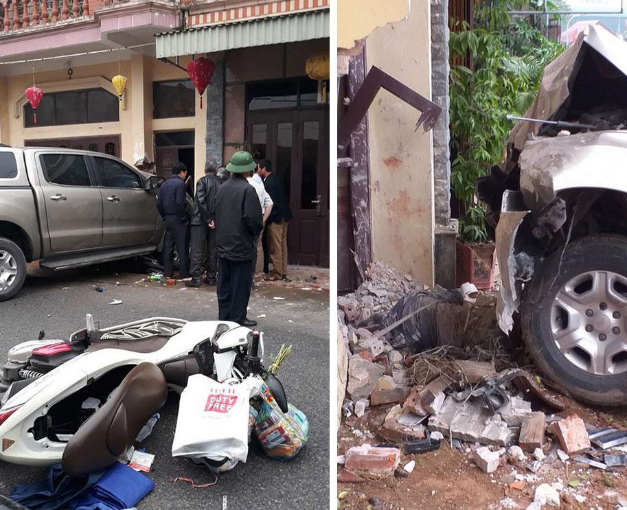 Clip: Ô tô lấn làn lao vào nhà dân bên đường, làm 1 người chết tại chỗ, 2 người bị thương nặng ở Nam Định-2