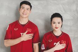 Gần đến ngày cưới, Quỳnh Anh khoe ảnh cưới mặc áo đấu đặc biệt của Duy Mạnh ở đội tuyển Việt Nam