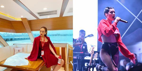 Halsey chụp ảnh thân thiết cùng Hoàng Thùy Linh trong sự kiện BudXMiami-1