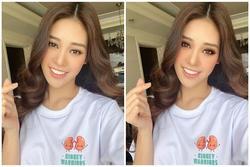 Khánh Vân được fan photoshop vì makeup quá nhạt nhòa
