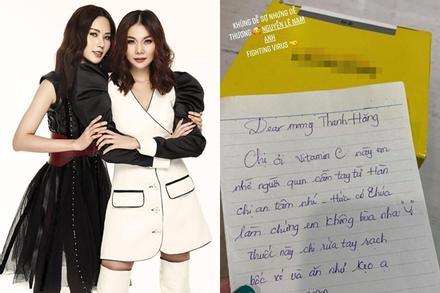 Tặng vitamin cho Thanh Hằng chống dịch virus corona, chị gái Nam Em 'thề độc' không bỏ bùa siêu mẫu