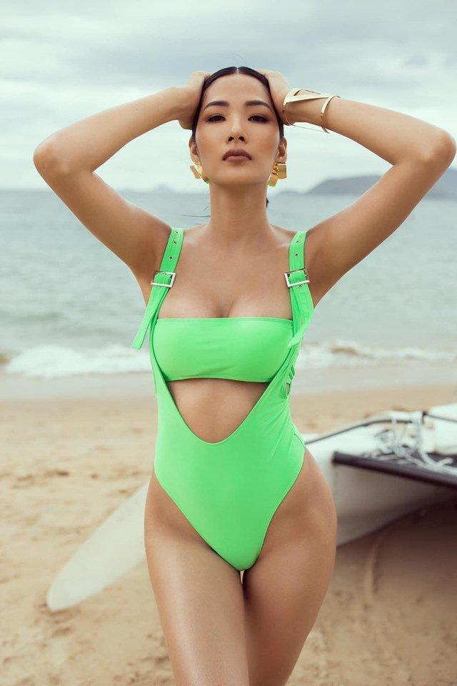 Ngắm sao Việt diện bikini xanh neon chói chang: Đỉnh nhất là Minh Tú, Hoàng Thùy-4