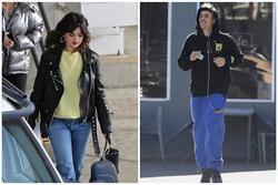 Cùng xuất hiện một ngày nhưng Selena Gomez và Justin Bieber hoàn toàn đối lập, người xinh đẹp rạng ngời, người như 'ông chú'