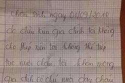 Bé gái hơn 1 tuổi bị bỏ rơi lúc rạng sáng ở sân nhà dân kèm lá thư ký tên 'người mẹ không tốt'