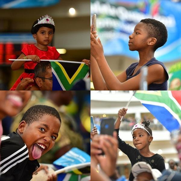 Sân bay Nam Phi như vỡ trận khi Hoa hậu Hoàn vũ da màu trở về-8