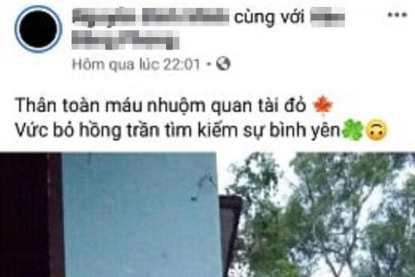 Trước khi treo cổ tự tử, nam thanh niên viết dòng status trên facebook làm ai đọc xong cũng rùng mình-1