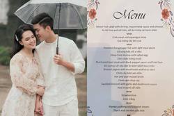 Thực đơn đám cưới Duy Mạnh tại khách sạn 5 sao