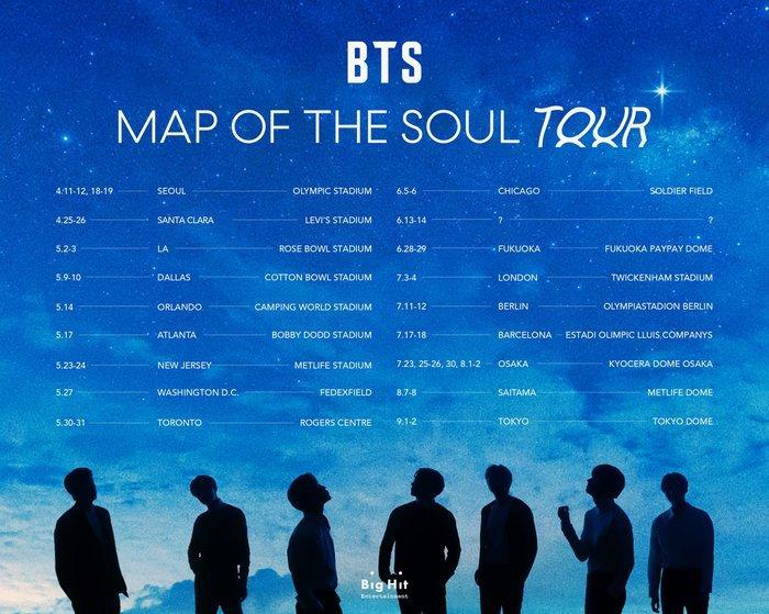 BTS gây choáng với doanh số tour concert 2020 Map Of The Soul Tour áp đảo loạt nghệ sĩ US-UK-1