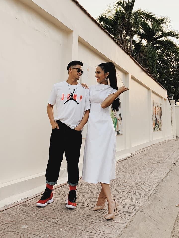 Trọng Hiếu tình tứ chăm sóc Hoa hậu Chuyển giới Hoài Sa, nghi công khai tình yêu đúng Valentine-4