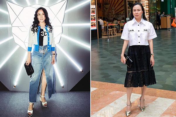 Hàng trăm lần mix hàng hiệu lạc quẻ, hình như Phượng Chanel có thù truyền kiếp với chân váy?-7