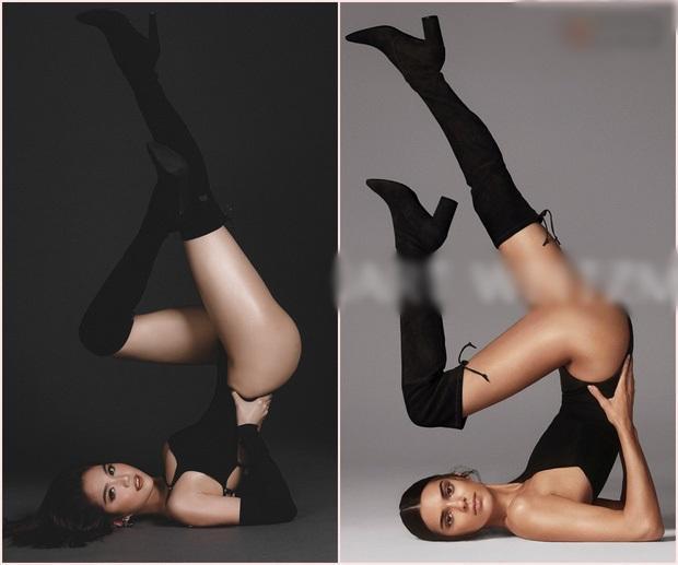 Hóa ra toàn bộ dáng pose hình nóng bỏng của Ngọc Trinh đều xài lại từ một người: Kendall Jenner chứ ai!-4
