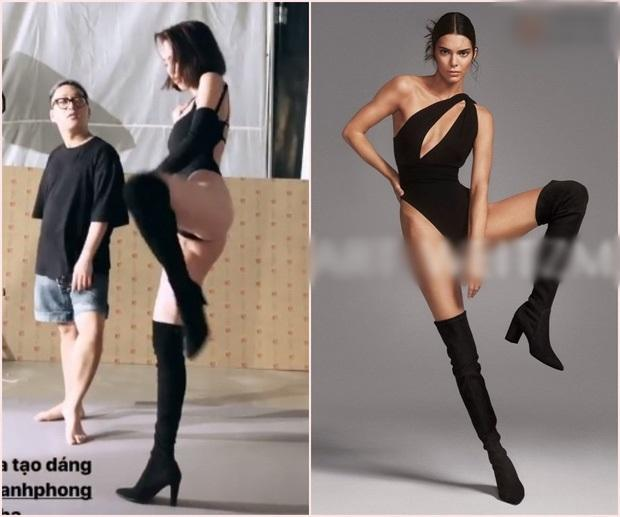 Hóa ra toàn bộ dáng pose hình nóng bỏng của Ngọc Trinh đều xài lại từ một người: Kendall Jenner chứ ai!-5