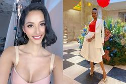 Bản tin Hoa hậu Hoàn vũ 14/2: Hoàng Thùy hở ngực mà vẫn phải nhả sóng cho 'viên ngọc đen'