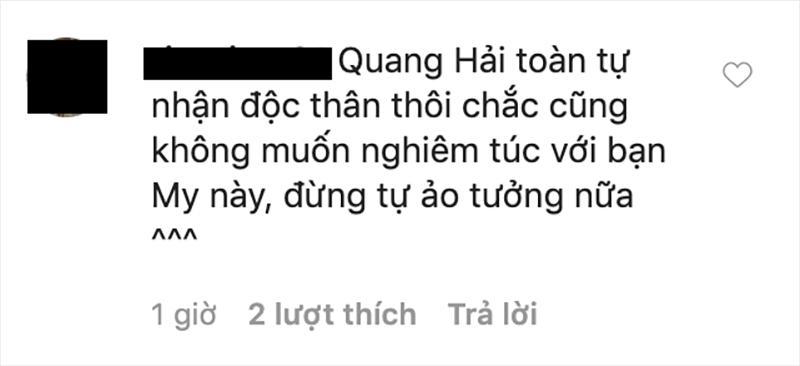 Huyền My đăng status thả thính, lẳng lặng xoá comment dân mạng khuyên đừng tự ảo tưởng tình yêu với Quang Hải-5
