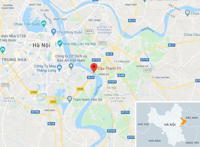 Người phụ nữ dắt con xin tiền ở cầu Thanh Trì bị xe máy tông chết-2