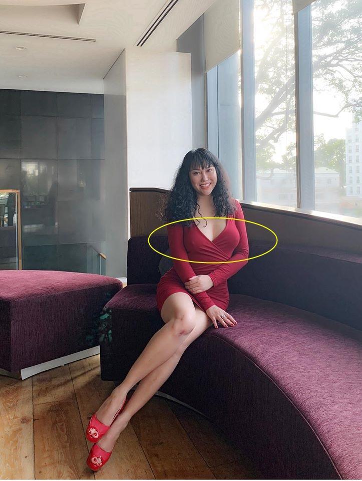 Phi Thanh Vân mặc đầm bó lộ ngực thả rông, tố cáo mọi khuyết điểm cơ thể-2