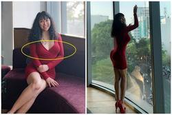Phi Thanh Vân mặc đầm bó lộ ngực 'thả rông', tố cáo mọi khuyết điểm cơ thể