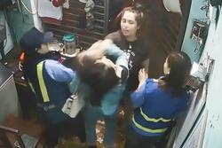 Đôi nam nữ đuổi theo hành hung phóng viên VTV8
