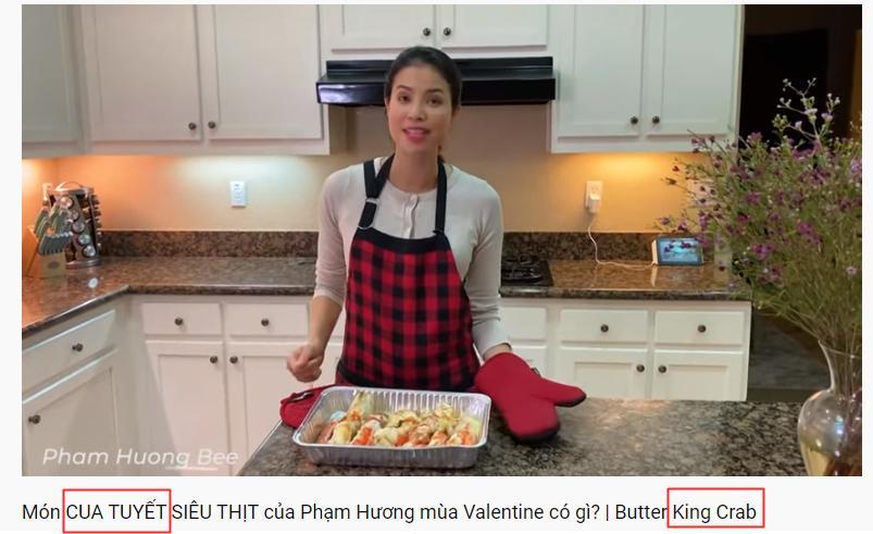 Hoa hậu Phạm Hương dạy nấu món quý tộc nhưng lại dịch tiếng Anh King Crab thành Cua Tuyết-1
