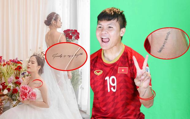 Quang Hải và bạn gái tin đồn bị soi có hình xăm đôi, ý nghĩa dòng chữ mới đáng chú ý-1
