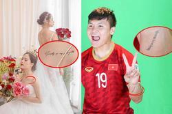Quang Hải và bạn gái tin đồn bị soi có 'hình xăm đôi', ý nghĩa dòng chữ mới đáng chú ý