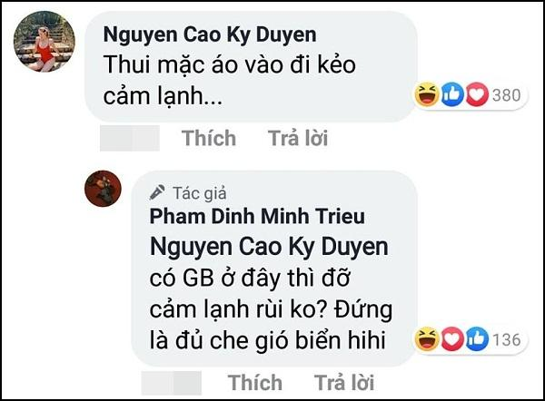 Kỳ Duyên phản ứng khi Minh Triệu lột đồ khoe thân trước biển-2