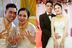 Những cô dâu được tặng hàng trăm cây vàng trong đám cưới