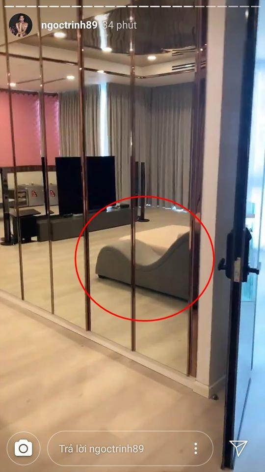 Ngọc Trinh khoe biệt thự triệu đô với đồ hiệu siêu khủng nhưng sự chú ý chỉ tập trung vào chiếc ghế tình yêu-2