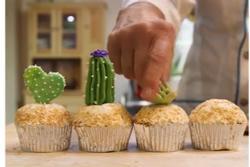 Cách làm bánh ngọt hình xương rồng độc lạ, hút khách