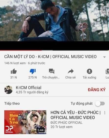 VÔ TIỀN KHOÁNG HẬU: Lượt dislike MV mới của K-ICM cao gấp đôi lượt xem vì tội treo đầu dê bán thịt chó-4