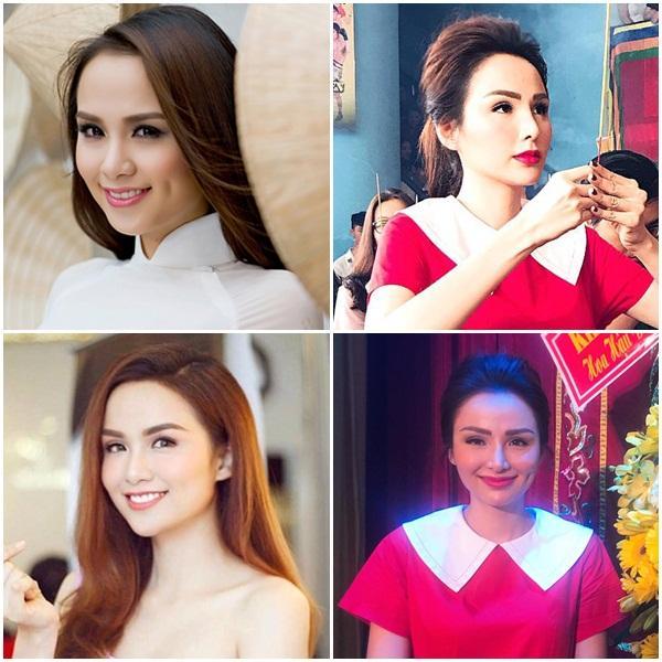 Hoa hậu Diễm Hương lộ sống mũi cao vống như chẳng liên quan gì đến gương mặt-6