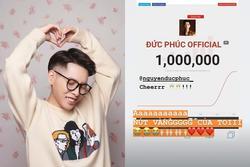 Cán mốc 1 triệu lượt đăng ký kênh Youtube, Đức Phúc phấn khích: 'Ôi nút vàng của tôi!'