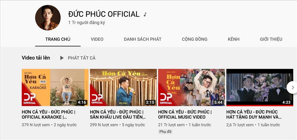 Cán mốc 1 triệu lượt đăng ký kênh Youtube, Đức Phúc phấn khích: Ôi nút vàng của tôi!-1