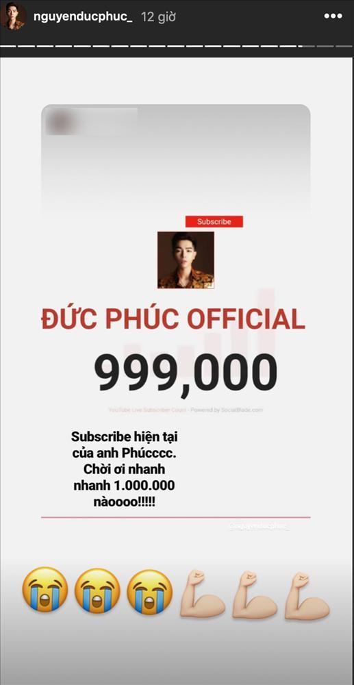 Cán mốc 1 triệu lượt đăng ký kênh Youtube, Đức Phúc phấn khích: Ôi nút vàng của tôi!-3