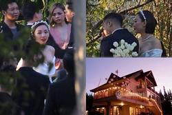 Tiệc cưới Tóc Tiên - Hoàng Touliver: Cô dâu mặc váy cực xinh, chú rể rưng rưng nước mắt