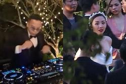 Hoàng Touliver trổ tài DJ 'cục xì lầu ông bê lắp' cực sung trong tiệc cưới với Tóc Tiên