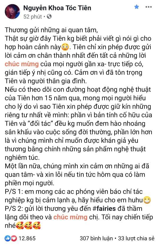 Tăng Thanh Hà, Hồ Ngọc Hà và dàn sao Việt gửi lời chúc phúc Tóc Tiên-2