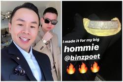 Đám cưới Tóc Tiên nhưng Binz mới là người gây chú ý bởi hàm răng kim cương giá tỷ đồng